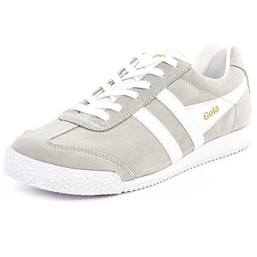 Gola Women's Harrier Fashion Sneaker, Grey/White, 8 M US