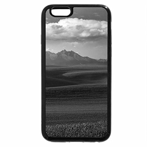 iPhone 6S Case, iPhone 6 Case (Black & White) - Green line