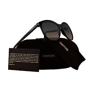 Tom Ford FT0568 Geraldine-02 Sunglasses Havana w/Blue Gradient Beige Lens 52P TF568