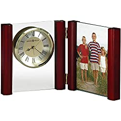 Howard Miller Alex Portrait Table Clock 645-618 - Picture Frame & Timepiece with Quartz, Alarm Movement
