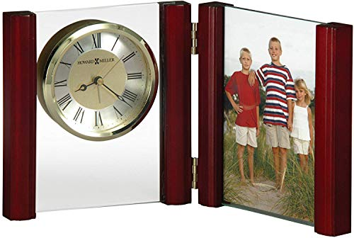 Howard Miller Alex Portrait Table Clock 645-618 - Picture Frame & Timepiece with Quartz, Alarm Movement