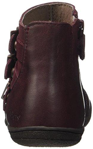 Kickers Mädchen calin 2 Klassische Stiefel, Knöchelhoch, Grau Rot (Bordeaux)