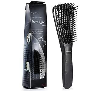 BESTOOL Detangling Brush for Black Natural Hair, Detangler Brush for Natural Black Hair Curly Hair Afro 3/4abc Texture, Faster n Easier Detangle Wet or Dry Hair with No Pain (Black)