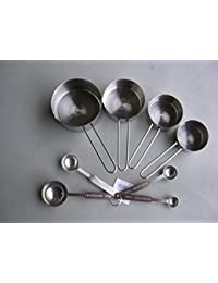 Win 8 Piece Measuring Cups & Spoons Set Stainless Steel Free Shipping online