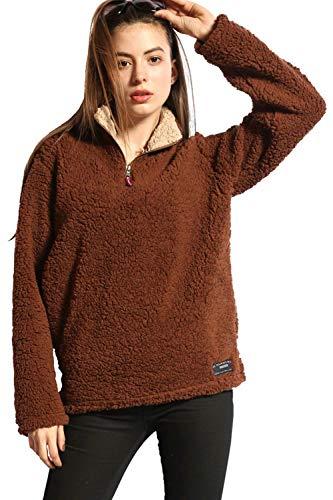 Fur Fur Fur Yisaesa Plus Warm Warm Warm Warm Large Nero Dimensione Shaggy Donna Caffè Inverno Colore Felpe Top Casual Size Faux qwRWz4UqF