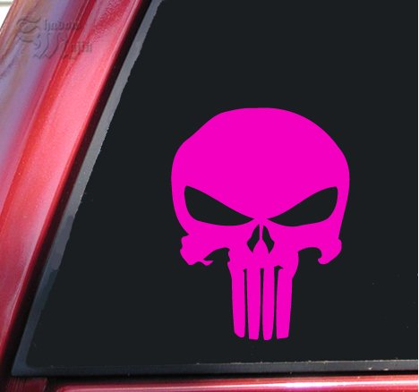 Pink Skull Graphics - Punisher 2K Skull Vinyl Decal Sticker (6