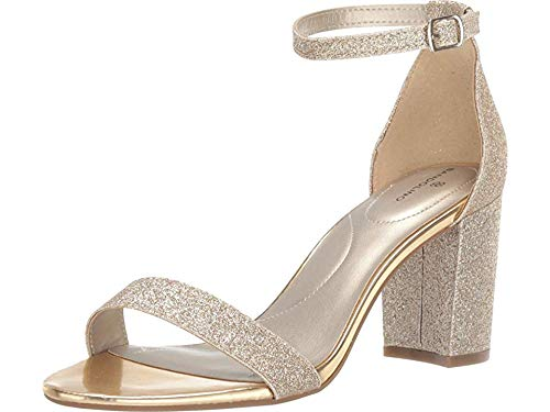 Bandolino Womens Armory Gold Glitter 6.5 M
