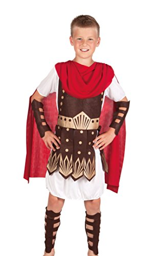 Greek Warrior Costume Child (Roman Gladiator Boys Fancy Dress Grecian Warrior Soldier Kids Childrens Costume (7-9 years))