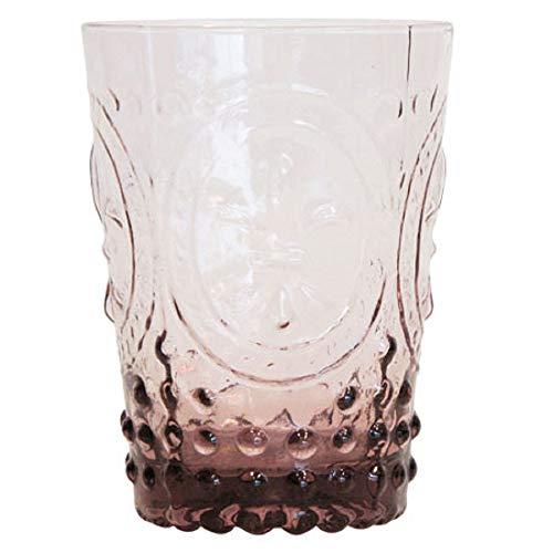 Set of 4 Purple Fleur De Lis Glasses, 4