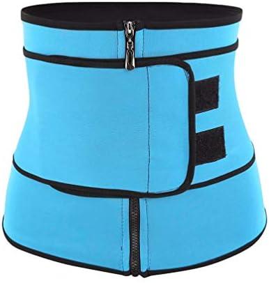 HEALLILY Neoprene Sweat Waist Trainer Yoga Sauna Corset Trimmer Belt Cincher Body Shaper Slimmer for Women Weight Loss Waist Blue (Size L) 1