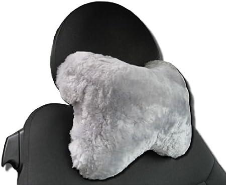 Nackenst/ütze ergonomisches Reise Nackenkissen Nacken-X Lammfell schwarz