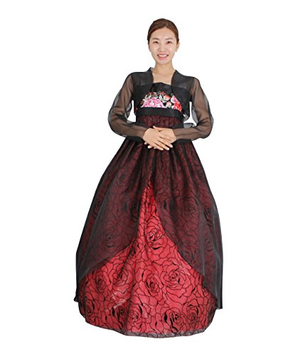 Hanbok Korea Traditional Costumes Women Junior Party Weddings Birthday Speical Ceremony co111 (skirt length 140cm (- 155cm)) by Hanbok store