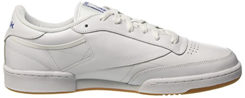 gum Blanc Baskets Club royal white 000 Homme int Basses Reebok C85 wfSzx76P