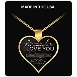 Valentine's Day Gifts Perfect Gift For Wife - To my Gorgeous Necklace - Wife birthday Necklace - Wife Birthday Gifts - To My Love - Birthday gifts for women - Gifts For Her - Heart Pendant