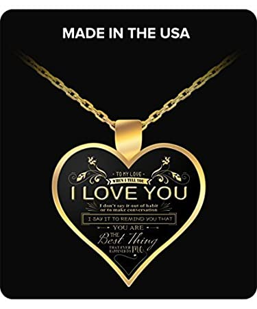 Amazon.com : Perfect Gift For Wife - To my Gorgeous Necklace ...