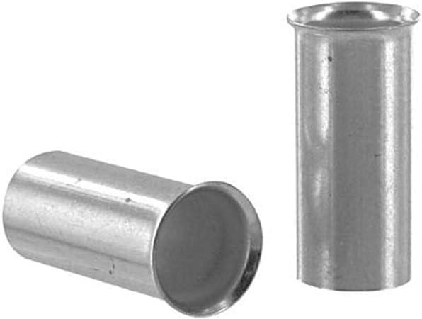Pack of 2 Crimp Terminal; Non-Insulated Wire Ferrule; 8 AWG; HU 10.0/⁄ 18; 0.71 in