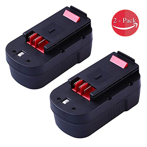 VINIDA 2 Pack HPB18 3.0Ah Replacement for Black and Decker Ni-CD 18 Volt Battery HPB18-OPE 244760-00 A1718 FSB18 FEB180S A18 FS18FL Firestorm Cordless Power Tools ()