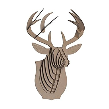 Cardboard Safari Bucky Cardboard Deer Head, Small, Brown