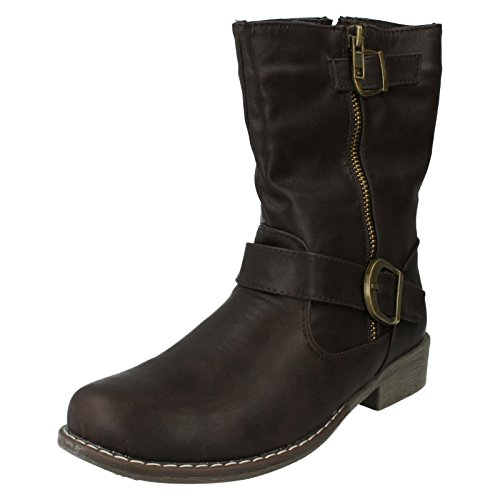 Spot On ,  Damen Bikerstiefel Braun