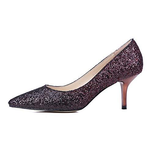 Chaussures Mariée Pour Pointues Pour Femmes Classiques Chaussures Bas Paillettes Chaussures À Talons Chaussures Soirée Femmes De De De Mariage Chaussures Chaussures Chaussures Winered De Soirée C7aqgxw