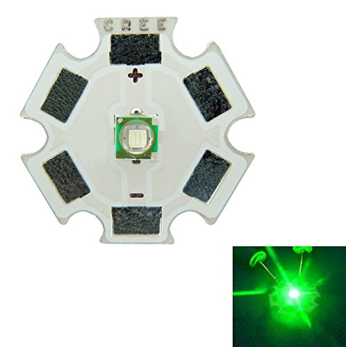 Led World 5pcs 1W / 3W Cree XP-E Green Led Emitter Light 520NM-535NM 107LM On 20MM PCB Board DIY