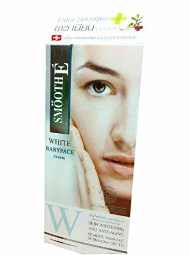 2 Packs of Smooth E White Babyface Skin Whitening and Anti-aging Cream. Melawhite