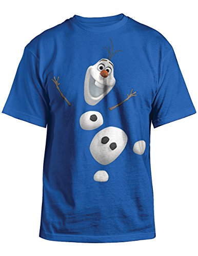 Disneys Frozen Olaf Youth T-Shirt Official License Royal Blue