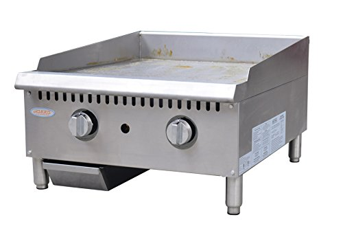 "Hakka Heavy Duty Commercial 24"" Countertop Gas Thermostat Griddles"