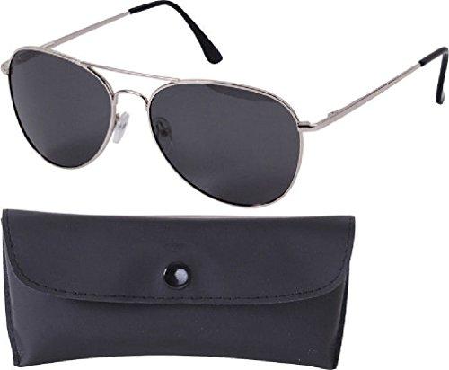 (Aviator Sunglasses Air Force Style Military Polarized Sunglasses w/Case - 58 MM)