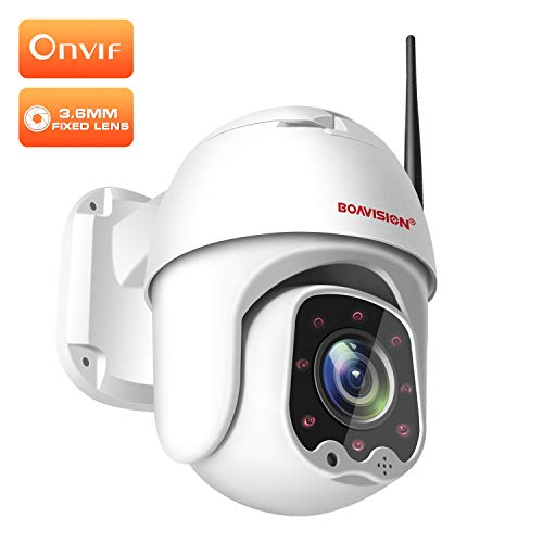 PTZ Camera,BOAVISION WiFi Cameras for Home Security Outdoor Dome Camera 1080P, Wireless IP Camera Onvif, 3.6mm Fixed Lens, 355° Pan/ 90° Tilt, 2-Way Audio,99ft Night Vision P2P CamHi,Support Max 64GB