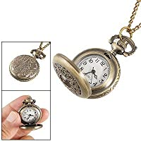 Gleader Hunter Case Necklace Pocket Watch Bronze Tone For Ladies