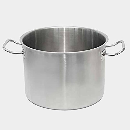 De Buyer Professional 32 cm Primary Cookware Stainless Steel Low Stockpot with Two Handles 3477.32