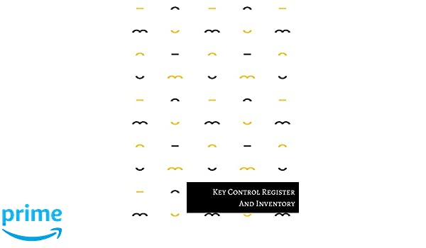 key control register and inventory journals for all 9781521314074