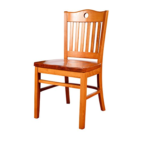 Beechwood Mountain BSD-30SW-C Solid Beech Wood Side Chairs in Cherry with wood seat for Kitchen and dining, set of 2 ()