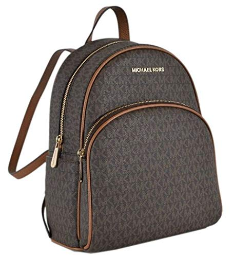 Michael Kors Brown Acorn Signature Abbey Backpack Tote Bag ()