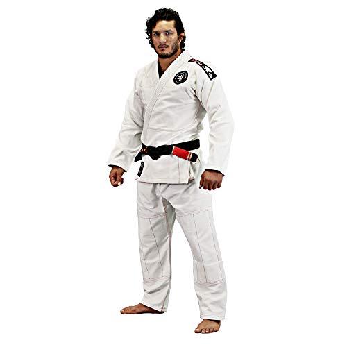 Bad Boy - Pro Series Shuriken Gi, Lightweight 450gsm Pearl Weave, IBJJF Approved - (White - A4) 10 Ounce Karate Uniform