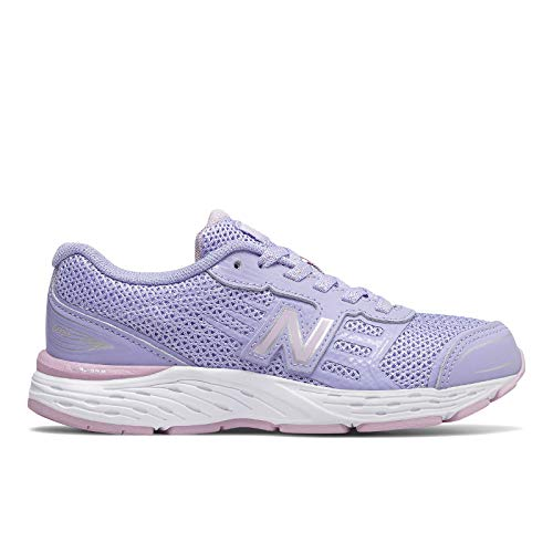 New Balance Girls' YP680CS Running Shoe, Clear Amethyst, 3M