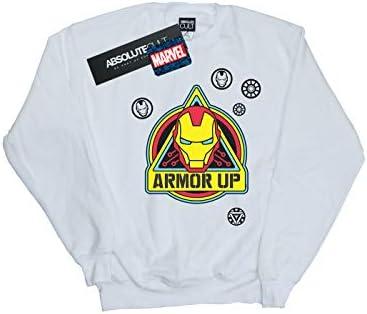Marvel Herren Iron Man Armor Up Badge Sweatshirt Weiß XXXXX-Large