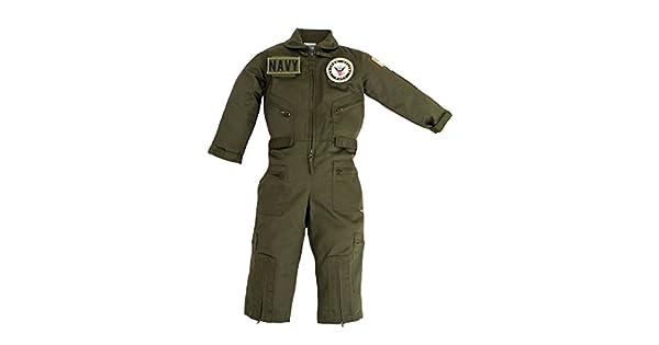 Amazon.com: Kids Militar Piloto Airman OD Verde Traje de ...