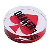 SM SunniMix Crystal Dealer Poker Buttons - Transparent with Black Words, Heart Pattern