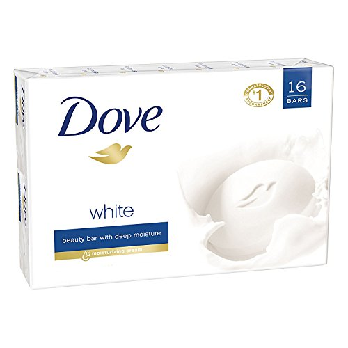 Dove Beauty Cream Bar Soaps Original White 16 Bars, 4.76 Oz/135 Grams Each -