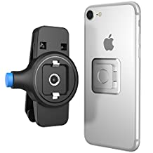 Cell Phone Belt Clip, MoKo Universal Holster with Belt Clip for Cell Phones & Cases, Fits iPhone X, 8 Plus, 7 Plus, 6S Plus, iPhone 8, 7, 6S, 6, 5S, 5, Samsung Note 8, S9 Plus, S9 - BLACK