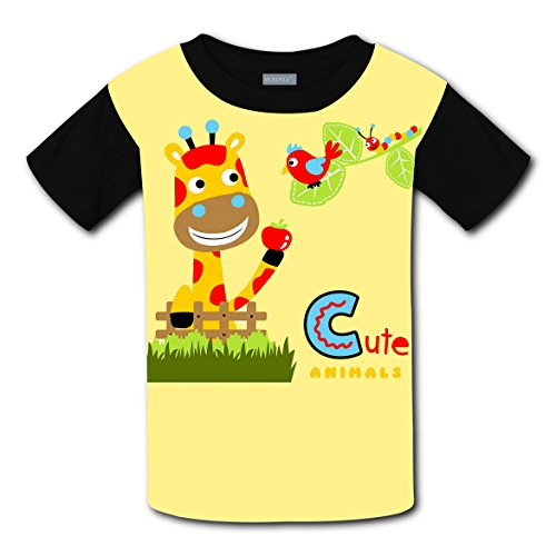 Tintin Costume Toddler (Crew Neck New Love Tee Shirt 3D Design With Cute Animals For Unisex Kid S)