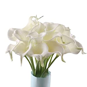 Leegoal Calla Lily Bridal Wedding Bouquet 20 head Latex Real Touch Flower Bouquets 1