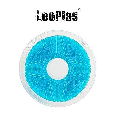 LeoPlas New Store USA Warehouse No Warping 1.75mm Transparent Translucent Blue ABS Filament 8 Colors 1Kg 2.2 Pounds FDM 3D Printer Pen Supplies Plastic Printing Material