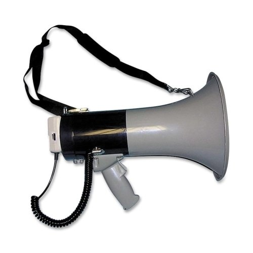 Tatco Products Inc Tatco Products Megaphone, 800-Yard Range, AdjustableVolume, Gray/Blue (TCO27900)