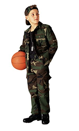 - Kids Woodland Camouflage Pants,Size 10
