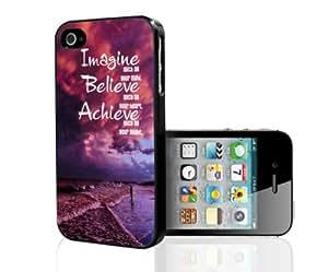 Imagine Believe Achieve Hard Snap on Phone Case (iPhone 4/4s)