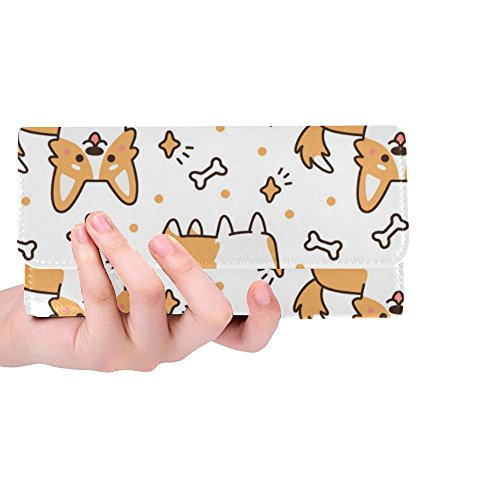 - InterestPrint Custom Womens Wallets Breed Welsh Corgi Trifold Wallet Long Clutch Purse Great Gift For Girl