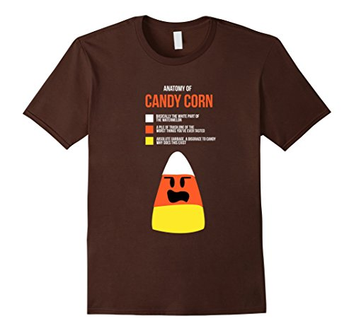 Mens Anatomy of Candy Corn Funny Halloween Costume T-Shirts Small (Bar Crawl Costume Ideas)